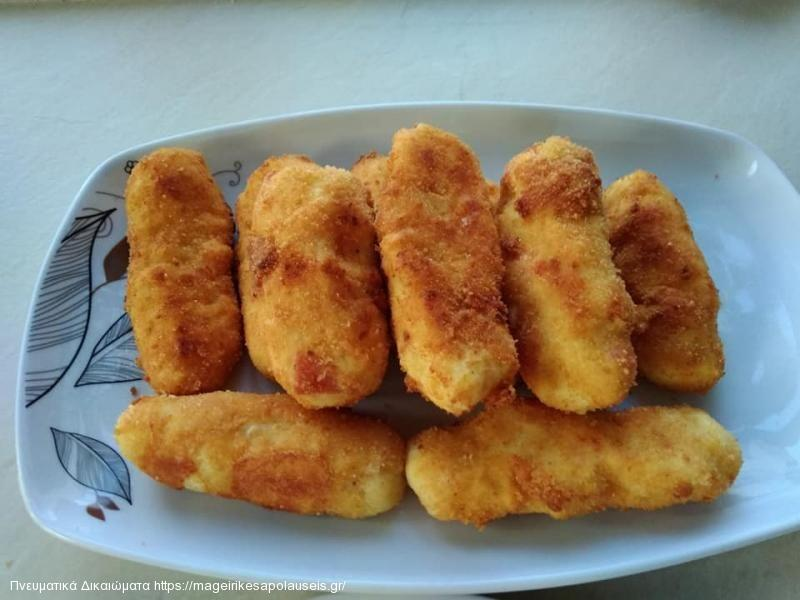 Πατατοκροκέτες με ζαμπόν & τυρί