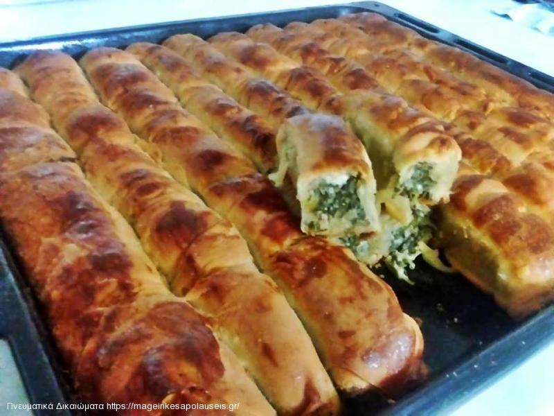 Στριφτά μπαστούνια με σπανάκι και τυρί