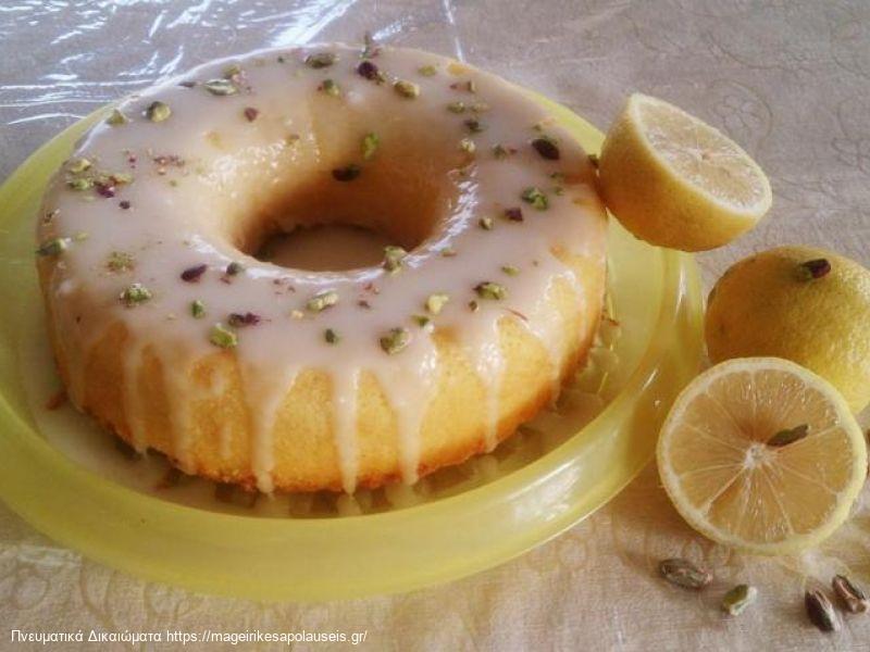 Κέικ λεμονιού με γλασσο