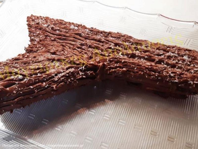 Κορμος με μαρμελαδα και επικαλυψη σοκολατας
