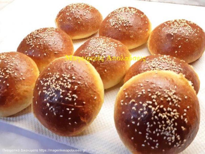 Ψωμάκια για μπέργκερ η σάντουιτς