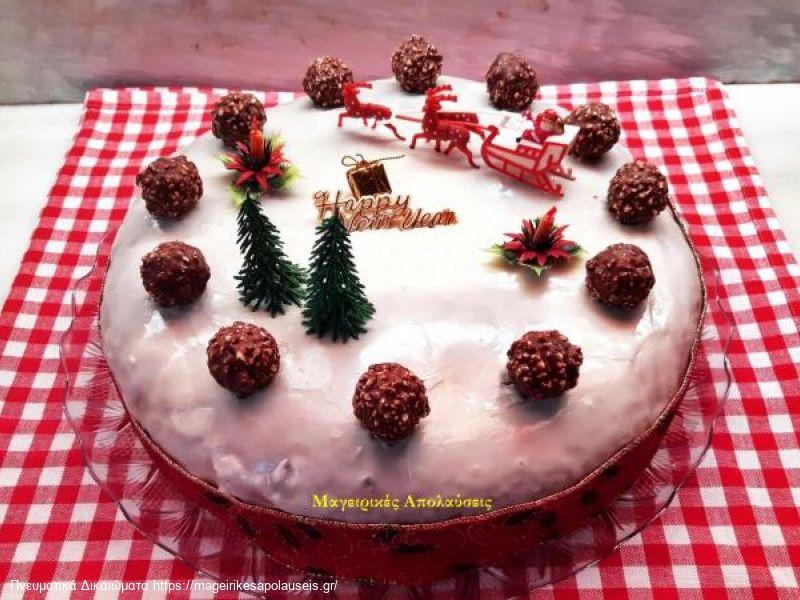 Βασιλόπιτα κέικ με γιαούρτι και άρωμα πορτοκαλιού