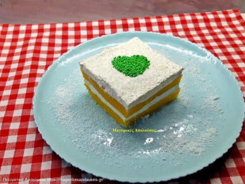Δροσερό εύκολο και γρήγορο γλυκό με γεύση ροδάκινο που μπορεί να βγεί και σε light μορφή