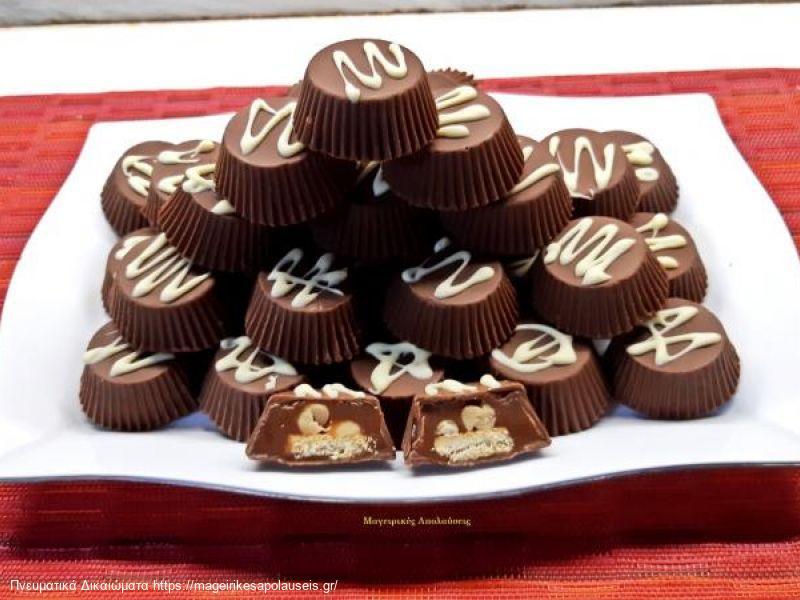 Twix (τουιξ) και Snickers (σνίκερς) σοκολατάκια με σπιτική καραμέλα