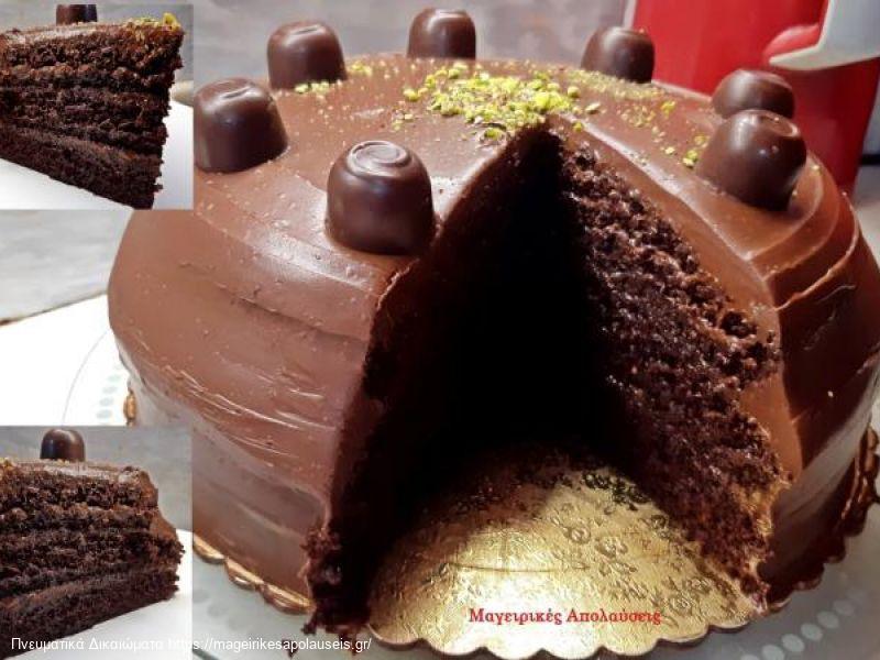 Κέικ σοκολάτας χωρίς μίξερ εύκολο και ζουμερό