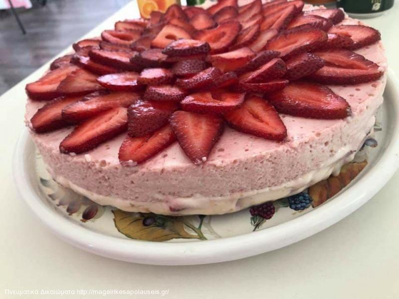 Cheesecake (Τσιζκέικ) φράουλας