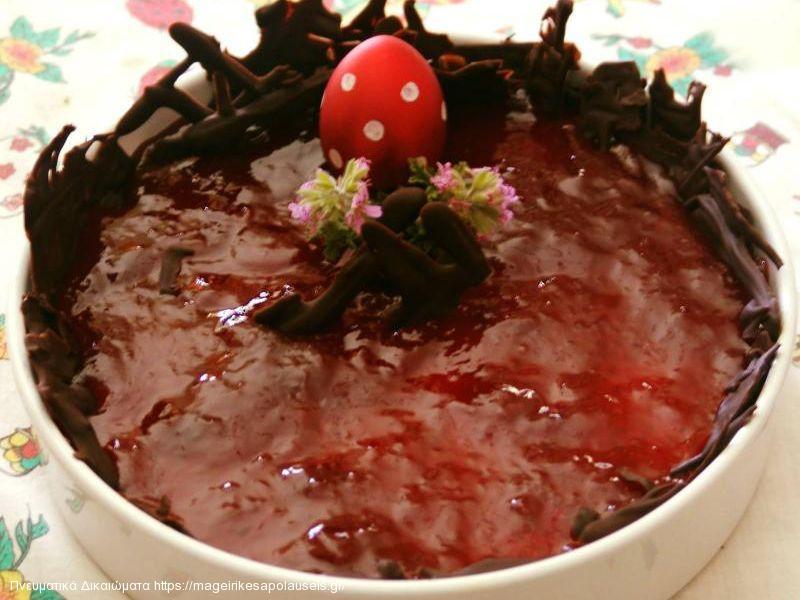 Τσίζκεϊκ με μαρμελάδα φράουλα