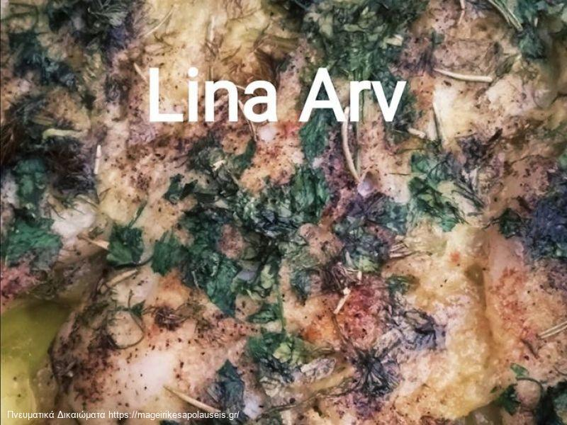 Φιλέτο Παγκάσιους στο φούρνο με αρωματικά βότανα και σάλτσα λεμόνι και μουστάρδας της Λίνας