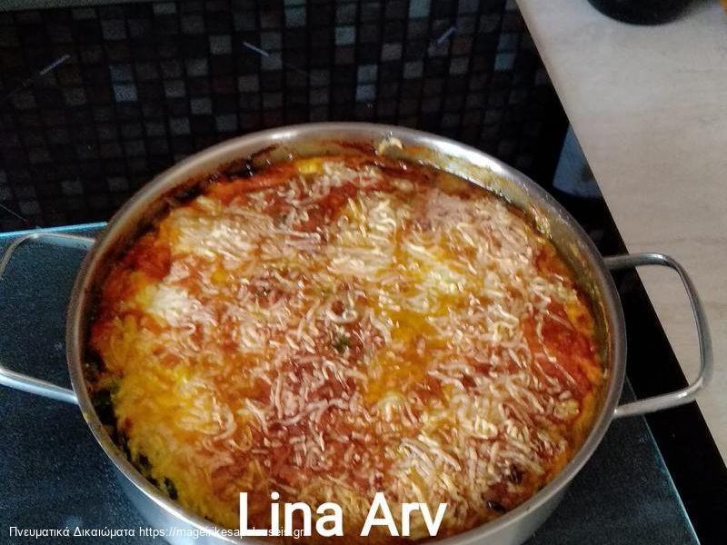 Σπανάκι ογκρατέν με πατάτες, φέτα και γιαούρτι της Λίνας